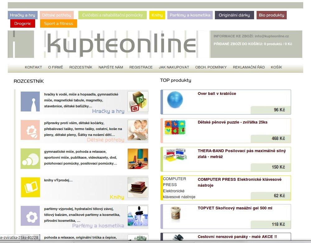 Kupteonline.cz – PRODEJ UKONČEN